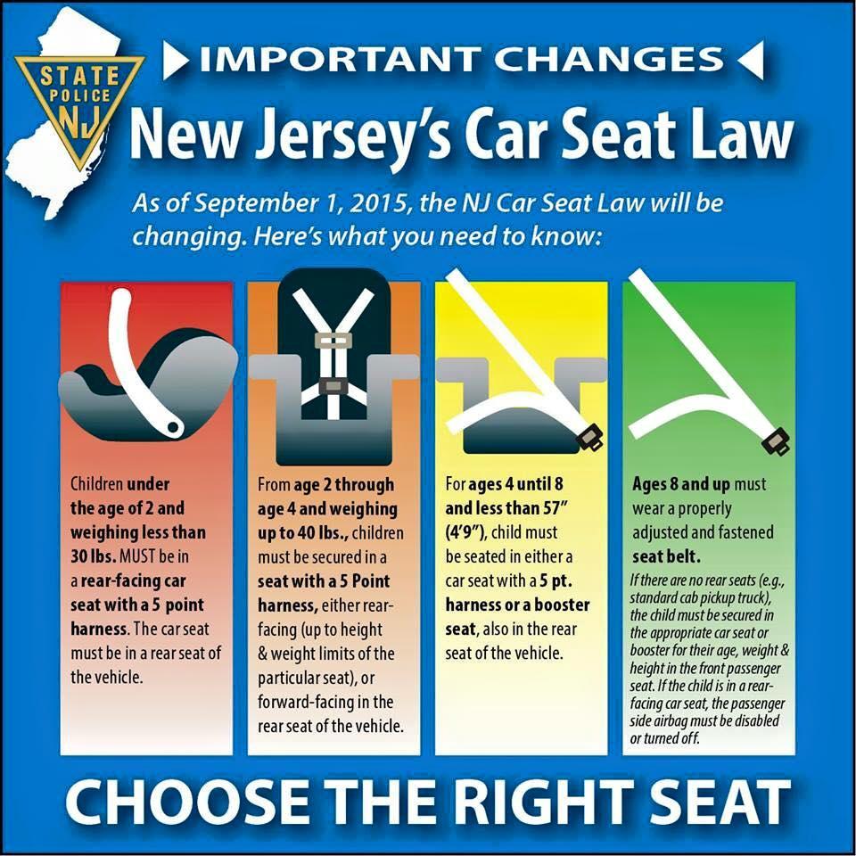 New Car Seat Laws Berkeley Heights Volunteer